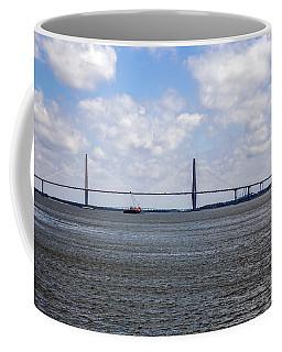 Coffee Mug featuring the photograph Arthur Ravenel Bridge by Sennie Pierson