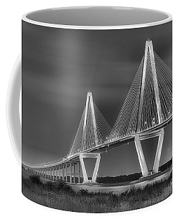 Arthur Ravenel Jr. Bridge In Black And White Coffee Mug