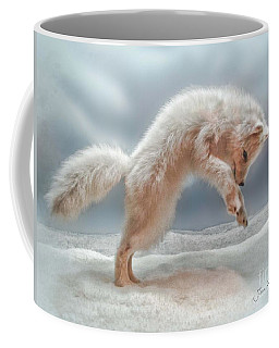 Artic White Wolf Coffee Mug by Joan  Minchak