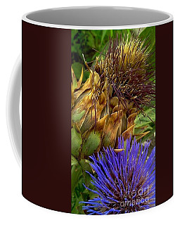 Artichoke And Blossom  Coffee Mug by Michael Hoard