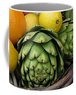 Artichokes Lemons And Oranges Coffee Mug