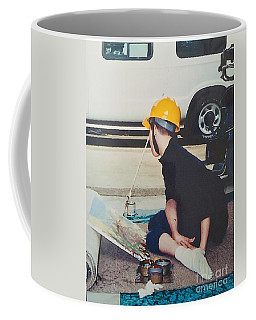 Coffee Mug featuring the painting Artist At 16 Yrs Old by Donald J Ryker III