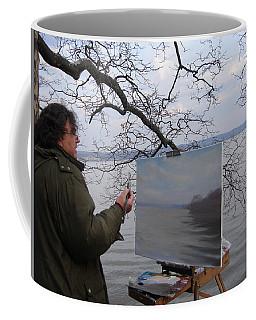 Artist At Work Nyack Park Ny Coffee Mug