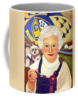 Artist At Work Portrait Of Mary Krupa Coffee Mug