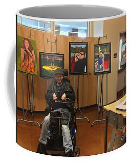 Coffee Mug featuring the photograph Artist With Lake Series by Donald J Ryker III