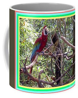 Coffee Mug featuring the photograph Artistic Wild Hawaiian Parrot by Joseph Baril