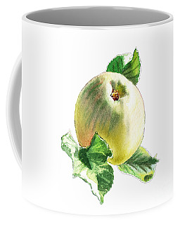 Coffee Mug featuring the painting Artz Vitamins Series A Happy Green Apple by Irina Sztukowski