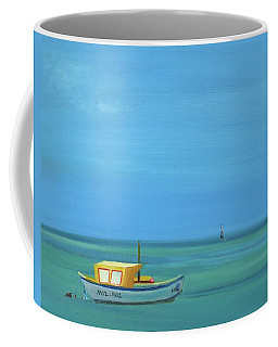 Coffee Mug featuring the painting Aruba by Donna Tuten