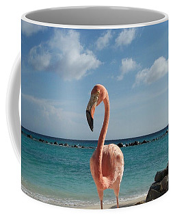 Aruba Hairy Eyeball Coffee Mug by HEVi FineArt