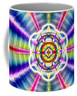 Coffee Mug featuring the drawing Ascending Eye Of Spirit by Derek Gedney