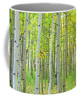 Aspen Tree Forest Autumn Time  Coffee Mug
