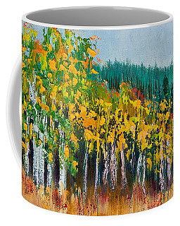 Coffee Mug featuring the painting Lothlorien by Margaret Bobb
