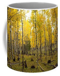 Aspens In Fall Coffee Mug
