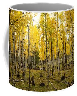 Aspens In Fall Coffee Mug by Tom Kelly