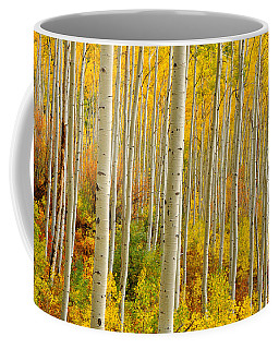 Aspens In The Colorado Rockies Coffee Mug