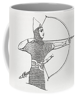 Assyrian Archer Wearing A Cuirass.  From The Imperial Bible Dictionary, Published 1889 Coffee Mug