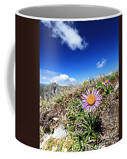Aster Alpinus Coffee Mug by Antonio Scarpi