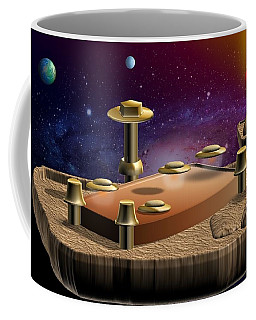 Asteroid Terminal Coffee Mug by Cyril Maza