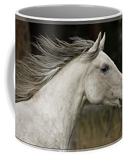 Coffee Mug featuring the photograph At A Full Gallop D7796 by Wes and Dotty Weber