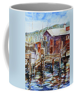 At Monterey Wharf Ca Coffee Mug by Xueling Zou