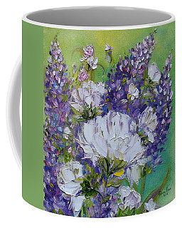 Coffee Mug featuring the painting At Peg's Request by Judith Rhue