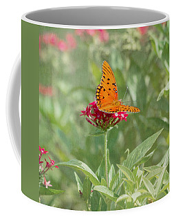 Coffee Mug featuring the photograph At Rest - Gulf Fritillary Butterfly by Kim Hojnacki
