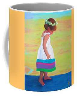 Coffee Mug featuring the painting At The Beach by Deborah Boyd