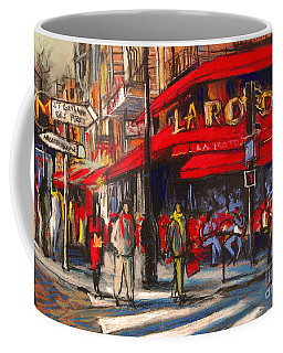 At The Cafe De La Rotonde Paris Coffee Mug