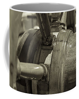 At The Helm Black And White Sepia Coffee Mug