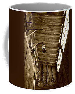 At The Museum - Sepia Coffee Mug