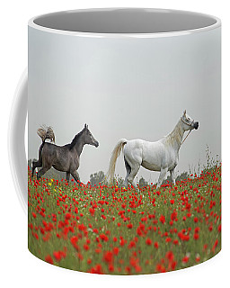 Coffee Mug featuring the photograph At The Poppies' Field... 2 by Dubi Roman