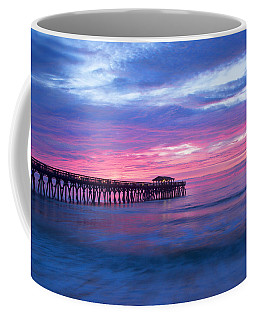 Myrtle Beach State Park Pier Sunrise Coffee Mug by Vizual Studio
