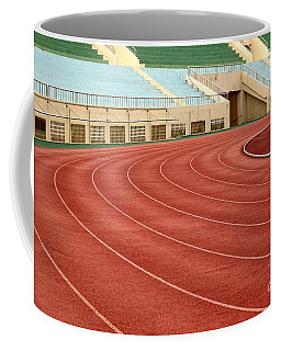 Athletic Track And Field Markings Coffee Mug
