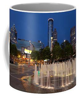 Atlanta By Night Coffee Mug by Alexey Stiop