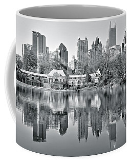 Atlanta Reflecting In Black And White Coffee Mug by Frozen in Time Fine Art Photography