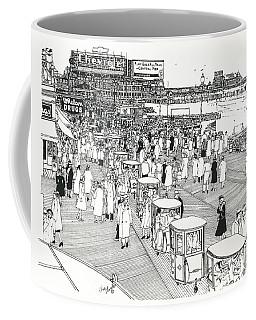 Atlantic City Boardwalk 1940 Coffee Mug