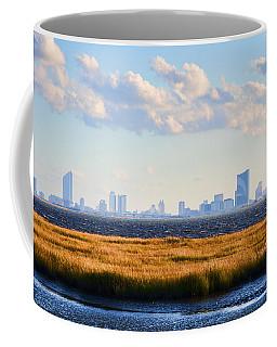 Atlantic City Skyline From Salt Marsh Coffee Mug