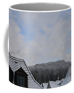 Coffee Mug featuring the photograph Attic Windows Open To The Sky by Felicia Tica