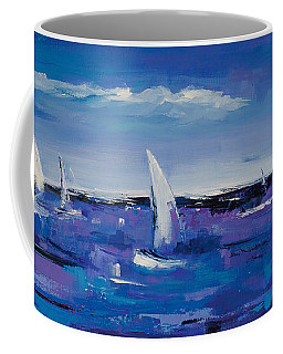 Coffee Mug featuring the painting Au Gre Du Vent by Elise Palmigiani