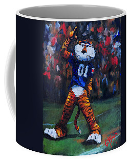 Aubie Doing His Thing Coffee Mug by Carole Foret
