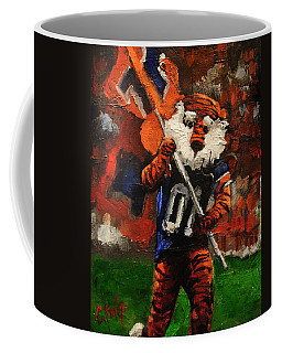 Aubie Running Flags Coffee Mug by Carole Foret