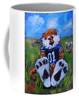 Aubie With The Cows Coffee Mug by Carole Foret