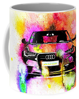 Audi A6 Avant Watercolor Coffee Mug