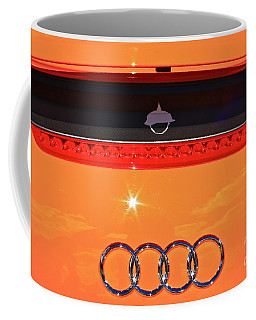 Audi Orange Coffee Mug by Linda Bianic