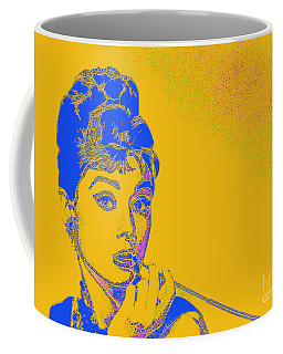Coffee Mug featuring the photograph Audrey Hepburn 20130330v2 by Wingsdomain Art and Photography