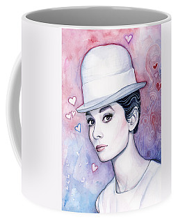Audrey Hepburn Fashion Watercolor Coffee Mug