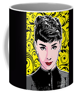 Audrey Hepburn Pop Art Coffee Mug