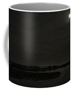 August Full Moon Over Lake Wausau Coffee Mug