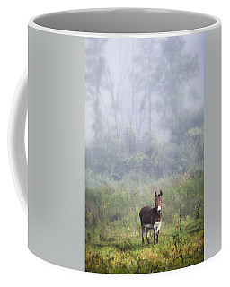 August Morning - Donkey In The Field. Coffee Mug