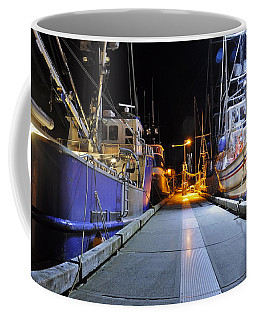 Coffee Mug featuring the photograph Auke Bay By Night by Cathy Mahnke